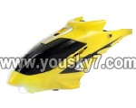 LH1101-Helicopter-parts-01 Head cover(Yellow)