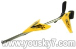 LH1101-Helicopter-parts-43 Tail unit-(Tail pipe & Horizontal and vertical wing & Tail cover & Tail blade)-Yellow