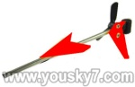 LH1101-Helicopter-parts-44 Tail unit-(Tail pipe & Horizontal and vertical wing & Tail cover & Tail blade)-Red