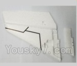 XK A1200 Spare Parts-04 Verticall Tail wing(Only EPP foam,No other parts)