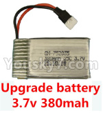 XK A150 Parts-Upgrade Battery-3.7V 380mah Battery 25-(Size-3.9X2X0.7CM)-1pcs