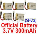 级13 Battery Parts-Official 3.7V 300mah Battery(5pcs)-A100.0011