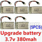 XK A150 Parts-Upgrade Battery-3.7V 380mah Battery 25-(Size-3.9X2X0.7CM)-5pcs