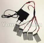 XK A150 Parts-USB Charger wire & Upgrade 1-to-5 Conversion wire & USB-to-Socket Conversion plug((Not include the 5 battery)