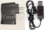 XK A150 Parts-Straight conversion plug & USB Charger