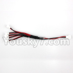 XK A150 Parts-Upgrade 1-to-5 Plug wire(Small White-to-White Plug)