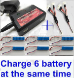 wltoys XK A160-J3 SKYLARK Parts-Upgrade charger and balance chager & 2pcs 1-To-3 convert wire & 6pcs battery-Total can charge 6x battery and the same time