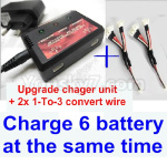 06-03 charger and balance chager & 2pcs 1-To-3 convert wire-Total can charge 6x battery and the same time