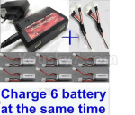 06-04 Upgrade charger and balance chager & 2pcs 1-To-3 convert wire & 6pcs battery-Total can charge 6x battery and the same time