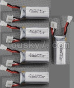 XK A430 Parts-10-02 Official 7.4v 300mah Battery(5pcs)