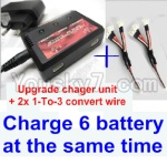 XK A430 Parts-11-06 Parts- Upgrade charger and balance chager & 2pcs 1-To-3 convert wire-Total can charge 6x battery and the same time