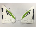 XK X450 Parts-Verticall Tail Wing Set-X450.0002