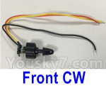 XK X450 Parts-Brushless motor(the Front CW Motor)-7.4V 1307 CW 2300KV, line length-120mm-X450.0007