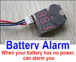 XK X450 Parts-Battery Alarm(When your battery has no power,can alarm you)