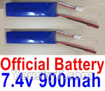 XK X520 Spare Parts X520.0013-02 Official 7.4V 900mah Battery(2pcs) - 副本
