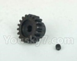 DHK Hunter Parts- 8131-9M2 Motor gear-18T and Lock Nut(M3x3)