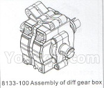 DHK Hunter Parts- 8133-100 Assembly of diff gear box