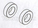 DHK Hunter Parts- 8381-114 Ball bearing(Dia 8X14X4mm)-2pcs