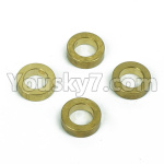 DHK Zombie Parts-8381-601 Brass washer,Steering buffer set copper sleeve(4pcs)