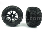 DHK Zombie Parts-8384-001-02 Tyre complete(2 set)-17mm Combiner