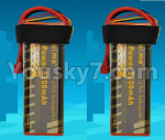 DHK Zombie Parts-H106 P117-02 Upgrade 11.1V 5200mah battery,Size is perfect,Run more time(2pcs)