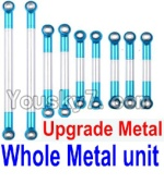 FeiYue FY-01 FY01 Parts-21-02 Whole Upgrade Metal Rodunit(Include the 21-04 21-06 21-08 21-10 21-11 Metal Rod)-9pcs