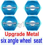 FeiYue FY-01 FY01 Parts-28-02 Upgrade Metal Combination device, six angle wheel seat(4pcs)