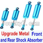 FeiYue FY-01 FY01 Parts-32-01 Upgrade Metal Front and Rear Shock Absorber(Total 4pcs)