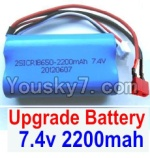 FeiYue FY-01 FY01 Parts-35-02 Upgrade 7.4V 2200MAH Battery With T-Shape Plug(1pcs)-Size-65X38X18mm