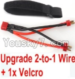 FeiYue FY-01 FY01 Parts-35-05 Upgrade 2-to-1 wire and Velcro-Two battery can use together,Run 2x Time than usual