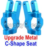 FeiYue FY-02 Spare Parts-09-02 Upgrade Metal C-Shape Seat(2pcs)-Blue