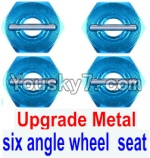FeiYue FY-02 Spare Parts-28-02 Upgrade Metal Combination device, six angle wheel seat(4pcs)