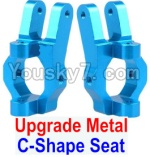 FeiYue FY03 Parts-09-02 Upgrade Metal C-Shape Seat(2pcs)-Blue