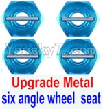 FeiYue FY03 Parts-28-02 Upgrade Metal Combination device, six angle wheel seat(4pcs)