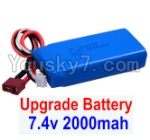 FeiYue FY03 Parts-35-03 Upgrade 7.4V 2000mah Battery(1pcs)-Size-80X35X19MM