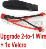 FeiYue FY03 Parts-35-05 Upgrade 2-to-1 wire and Velcro-Two battery can use together,Run 2x Time than usual