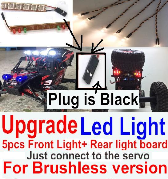 FeiYue FY03 Parts-42-06 Upgrade Front and Rear light assembly-Can only be used for Upgrade Brushless version,Plug is Black