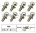 FeiYue FY03 Parts-60-15 W12057 Inner Hexagon Ball head screws(8pcs)-2.5X4.8X6mm