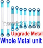 FeiYue FY-04 Spare Parts-21-02 Whole Upgrade Metal Rodunit(Include the 21-04 21-06 21-08 21-10 21-11 Metal Rod)-9pcs