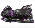 FeiYue FY-04 Spare Parts-42-05 FY-CM04 Desert Car Surface Cover,Not include the frame-Purple
