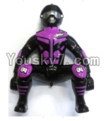 FeiYue FY-04 Spare Parts-64-01 FY-CS01 Motorcycle driver doll-Purple