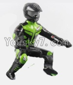 FeiYue FY-04 Spare Parts-64-02 FY-CS01 Motorcycle driver doll-Green