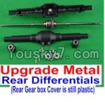 JJRC Q40 Upgrade Parts-03-02 Upgrade Metal Rear Differentials Assembly and Official Plastic Rear gear box cover