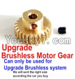 JJRC Q40 Parts-Upgrade Motor gear(Can only be used for Upgrade Brushless set,We will according the car you buy to sent you the right version size)