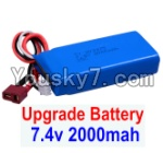 JJRC Q40 Parts-Upgrade 7.4V 2000mah Battery(1pcs)-Size-80X35X19MM
