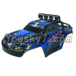 JJRC Q40 Parts-FY-CK05 Whole desert Car canopy Assembly,desert Shell Assembly-Blue