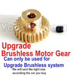 FeiYue FY-11 Parts- Upgrade Motor gear(Can only be used for Upgrade Brushless set,We will according the car you buy to sent you the right version size
