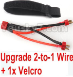 FeiYue FY-11 Parts- Upgrade 2-to-1 wire and Velcro-Two battery can use together,Run 2x Time than usual