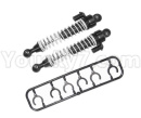 HG P601 Parts-72 Shock absorber assembly 01-Silver(2pcs)-Wire diameter 1.1mm-HG-BZ01
