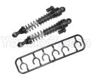 HG P601 Parts-73 Shock absorber assembly 01-Black(2pcs)-Wire diameter 1mmHG-BZ02